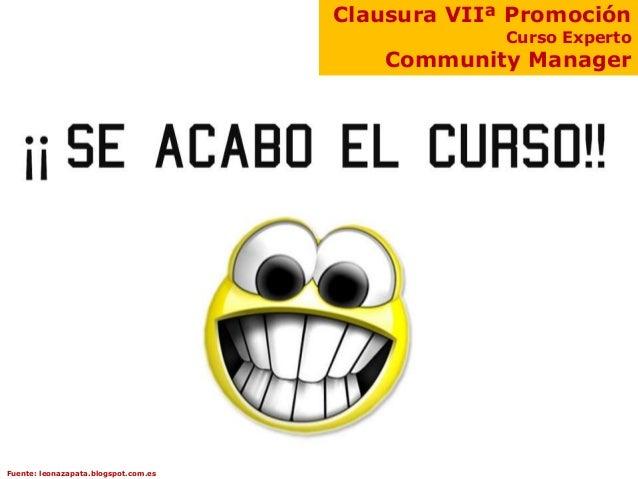 Clausura VIIª Promoción                                                   Curso Experto                                   ...