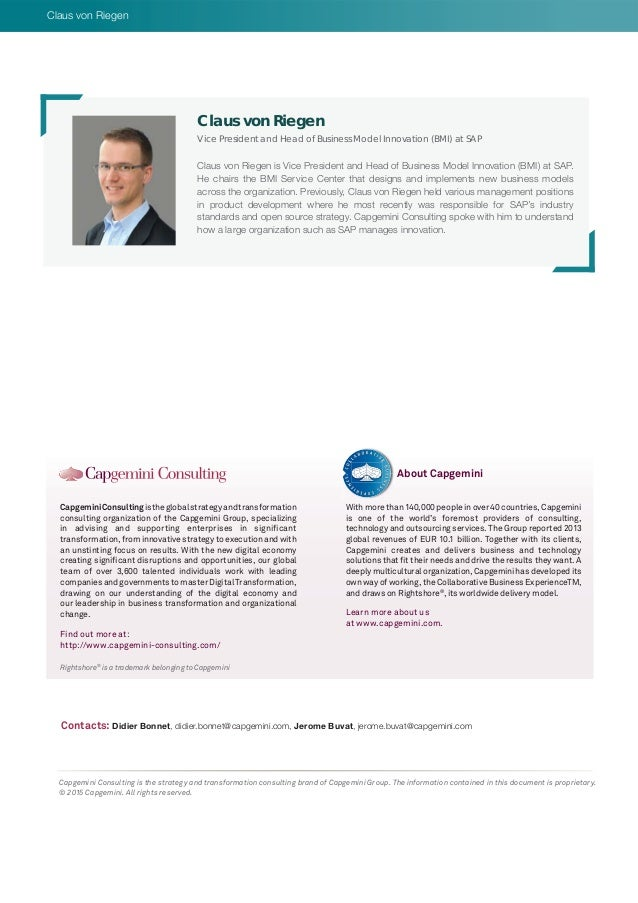 Rightshore® is a trademark belonging to Capgemini CapgeminiConsultingistheglobalstrategyandtransformation consulting organ...