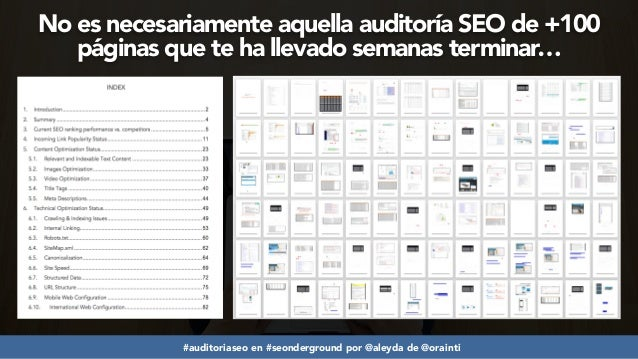 7 Claves para una Auditoría SEO Exitosa #seonderground Slide 3