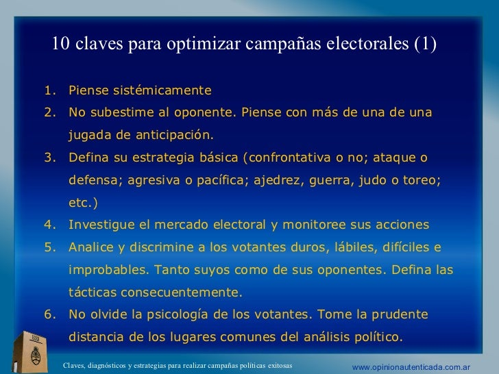 Claves Campañas Politicas Agosto 2012