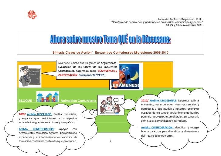 """Encuentro Confederal Migraciones 2011                                                                      """"Construyendo c..."""
