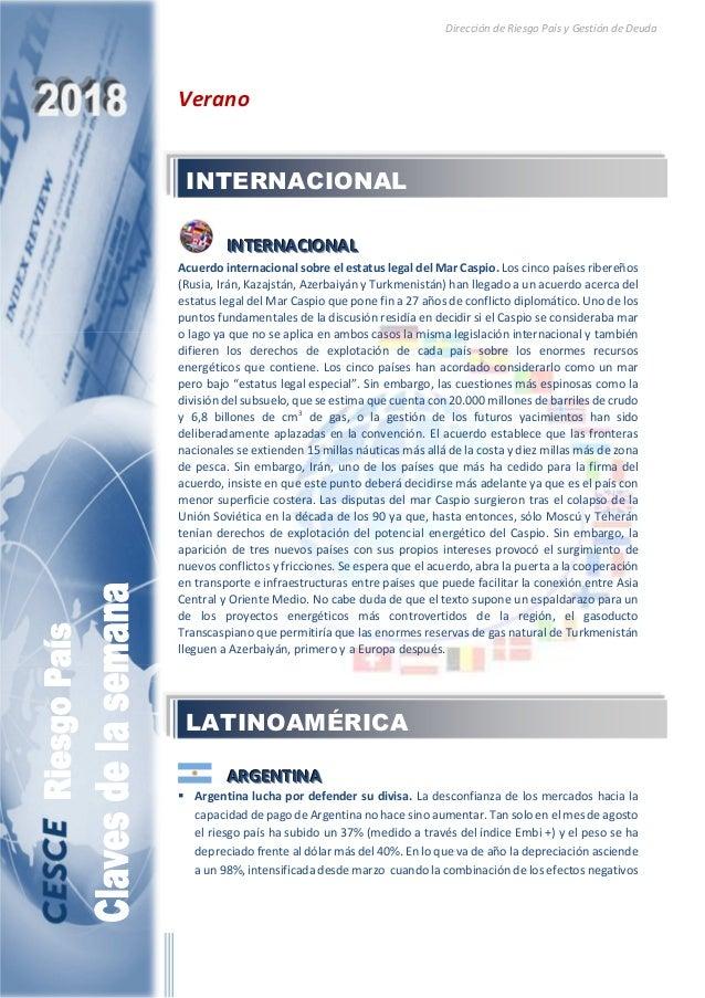 Dirección de Riesgo País y Gestión de Deuda Verano IIINNNTTTEEERRRNNNAAACCCIIIOOONNNAAALLL Acuerdo internacional sobre el ...