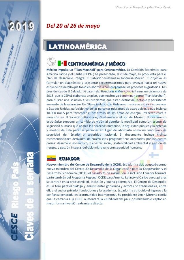 Dirección de Riesgo País y Gestión de Deuda Del 20 al 26 de mayo CCCEEENNNTTTRRROOOAAAMMMÉÉÉRRRIIICCCAAA /// MMMÉÉÉXXXIIIC...
