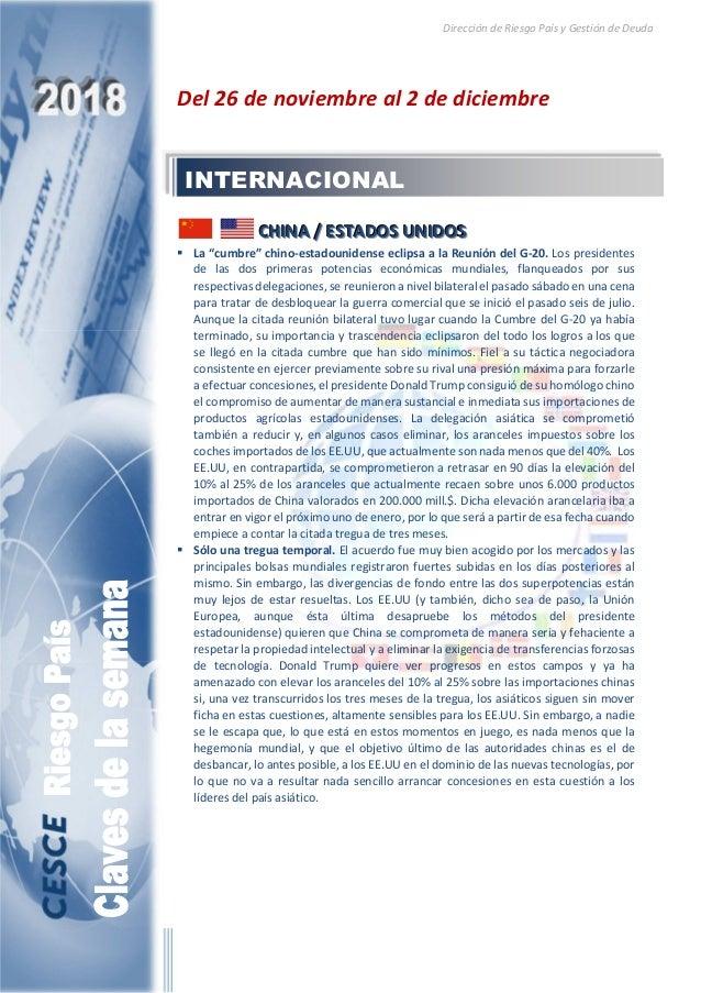 Dirección de Riesgo País y Gestión de Deuda Del 26 de noviembre al 2 de diciembre CCCHHHIIINNNAAA /// EEESSSTTTAAADDDOOOSS...