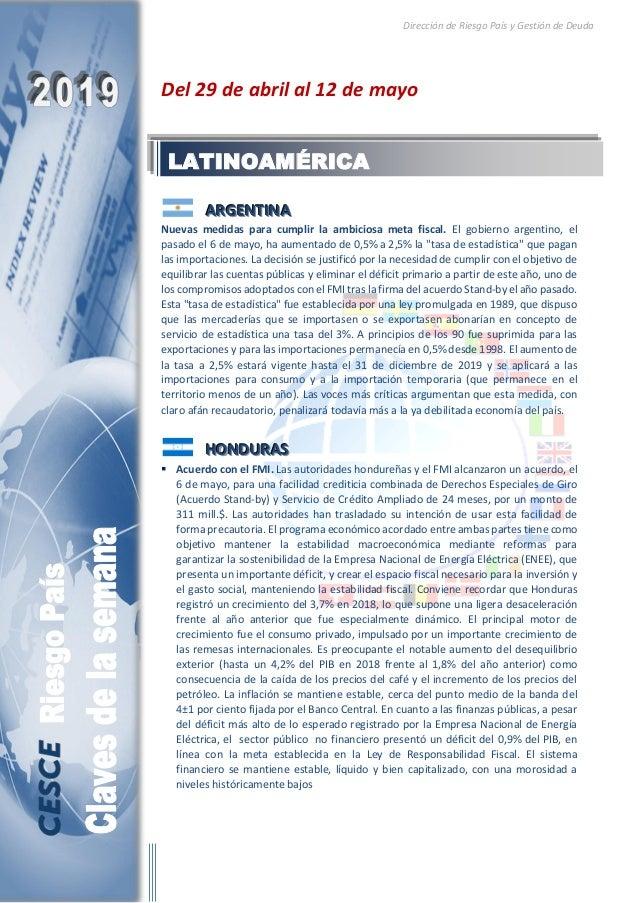 Dirección de Riesgo País y Gestión de Deuda Del 29 de abril al 12 de mayo AAARRRGGGEEENNNTTTIIINNNAAA Nuevas medidas para ...