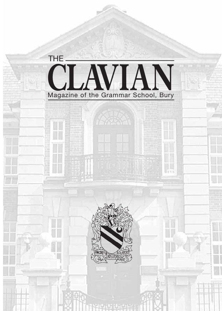THE   CLAVIAN Magazine of the Grammar School, Bury