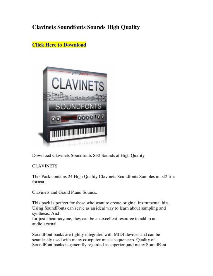 Clavinets soundfonts sounds high quality