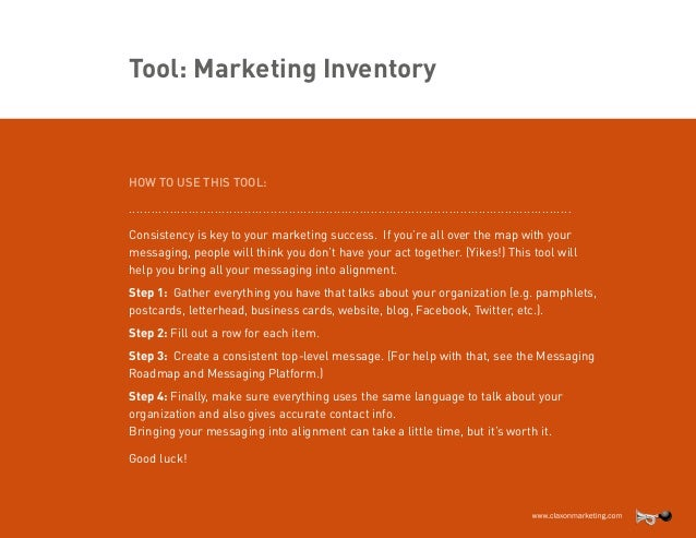 Claxon Nonprofit Marketing Inventory Template