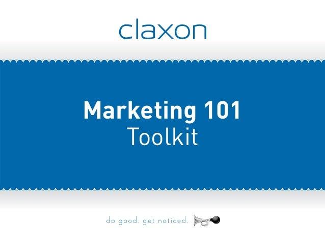 Marketing 101 Toolkit