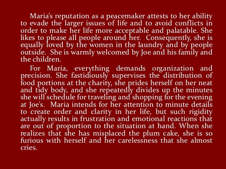 A character analysis of maria in james joyces short story clay