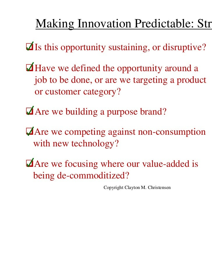 Clayton Christensen Creating And Sustaining Profitable Growth