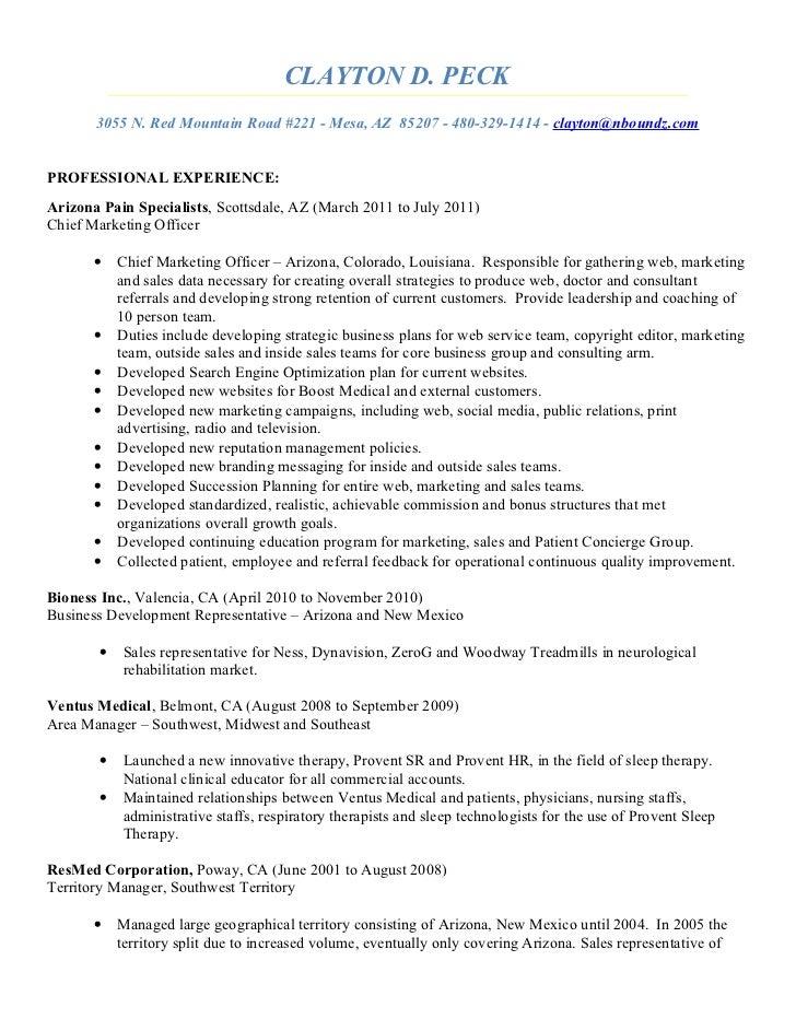 Clayton Peck Resume 2011