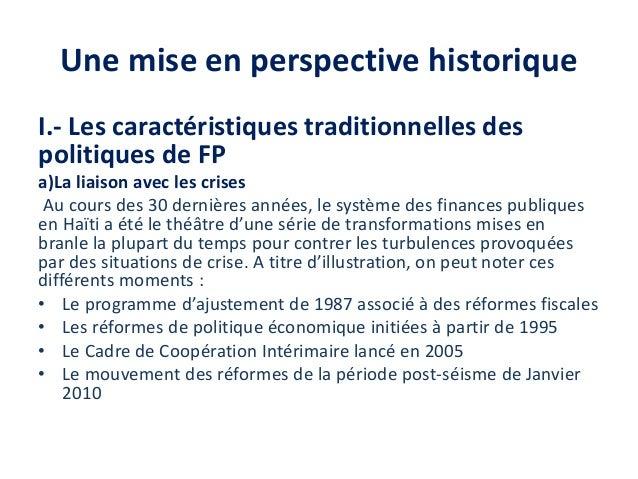 Note sur l'evolution actuelle de la réforme des finances publiques Slide 3