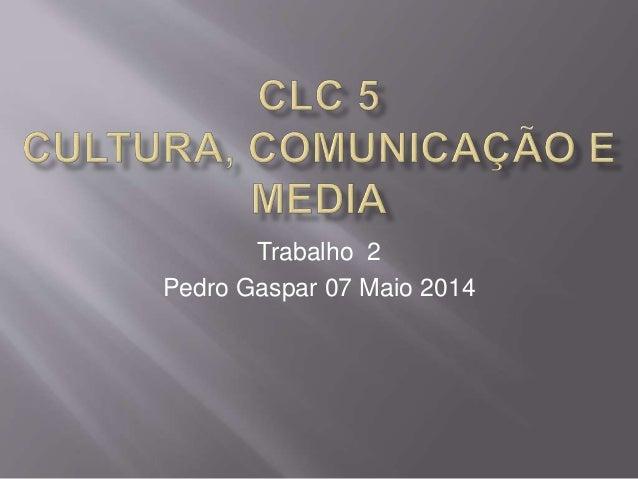 Trabalho 2 Pedro Gaspar 07 Maio 2014