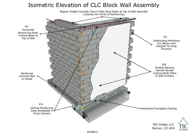 CLC Block Wall Assembly Not for Construction Use