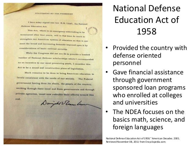 the national defense education act