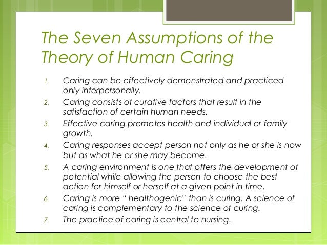 watsons theory of nursing care essay Watson's theories are being practiced in various health care setting all over the world one of these theories in the nursing process this entails first assessing patient, planning, intervention and evaluation.