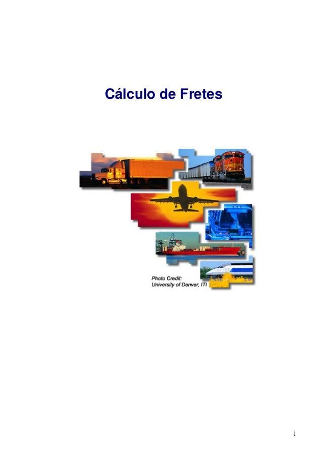 1 Cálculo de Fretes