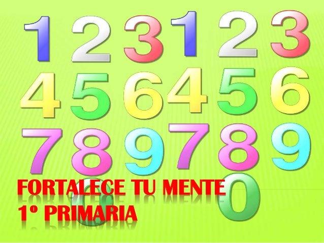 FORTALECE TU MENTE 1º PRIMARIA