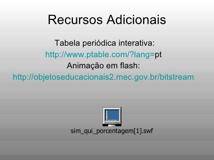 C lculos qu micos propor es for Ptable tabela periodica