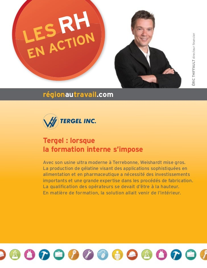 tergel inc mise sur la formation interne