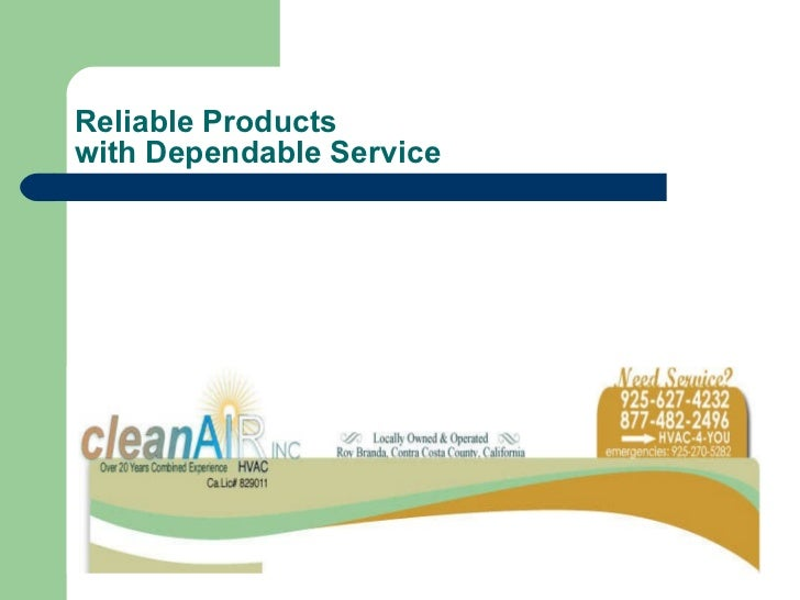 Reliable Products  with Dependable Service