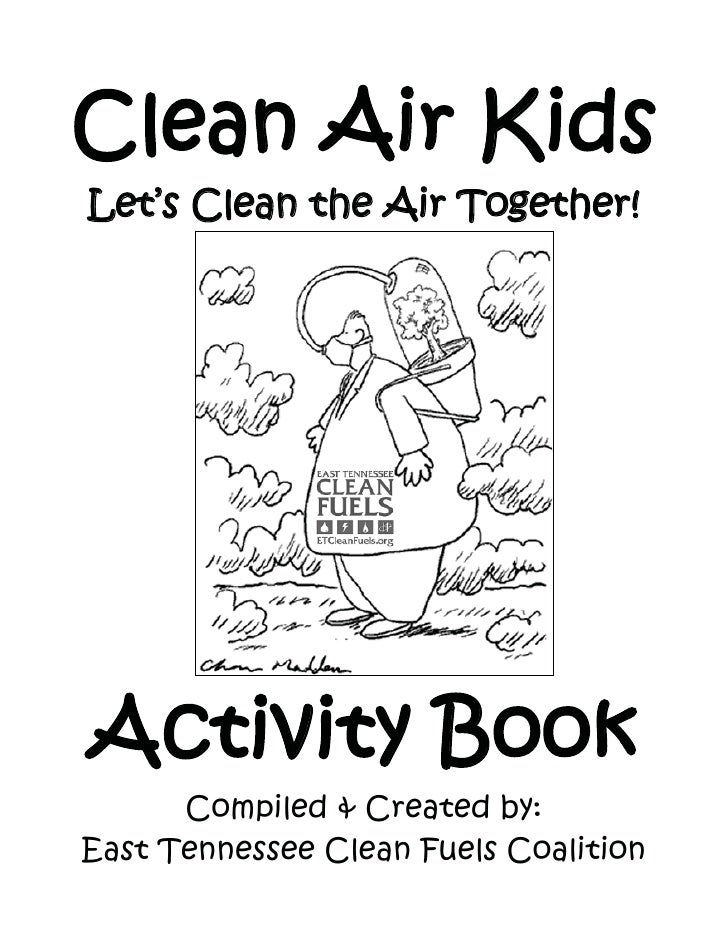 clean air kids lets clean the air together activity book compiled created by