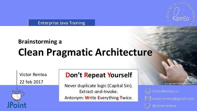 Clean Pragmatic Architecture - Avoiding a Monolith Slide 2