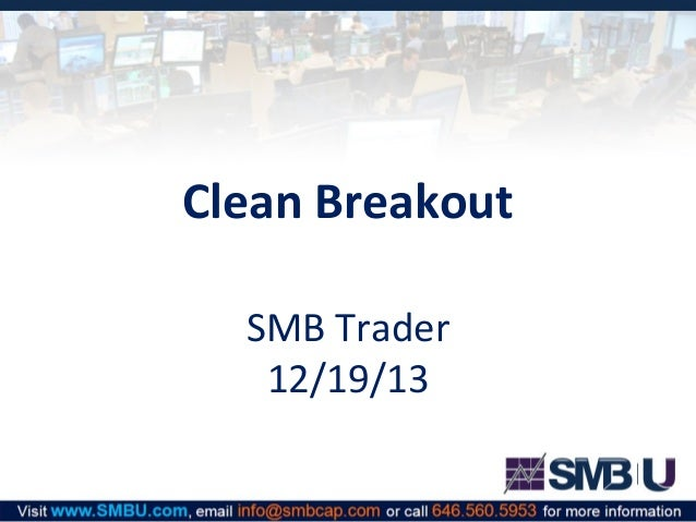 Clean Breakout SMB Trader 12/19/13