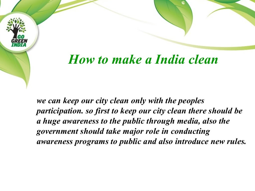 write an article on keep your city clean