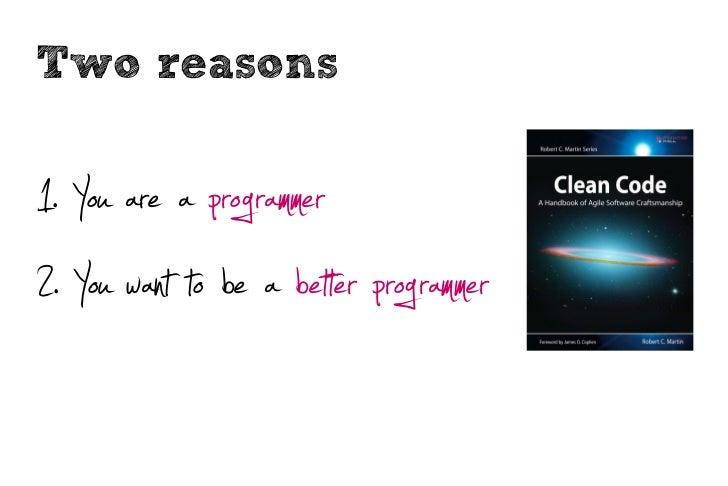 Clean code Slide 2