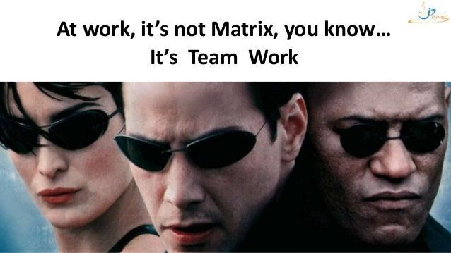 VictorRentea.ro66 At work, it's not Matrix, you know… It's Team Work