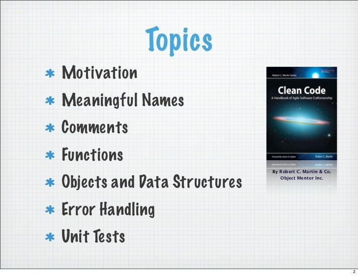 Clean Code (PDF version) Slide 2