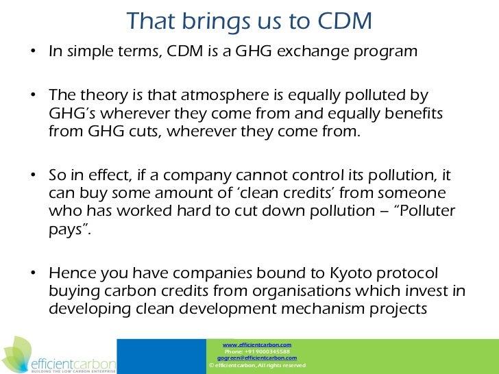 Clean development mechanism basics