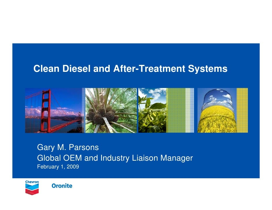 Clean Diesel and After-Treatment Systems     Gary M. Parsons Global OEM and Industry Liaison Manager February 1, 2009