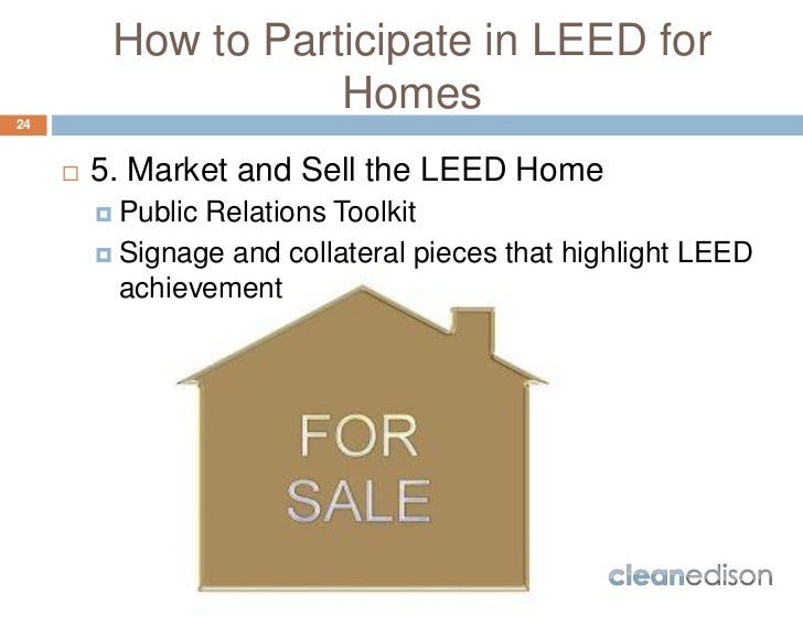 Cleanedison Leed For Homes Course Overview