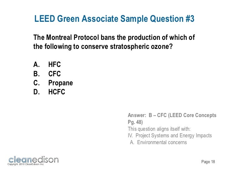 Try 50 free example LEED Green Associate test questions.