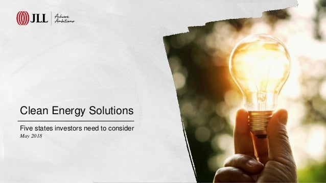 Clean Energy Solutions Five states investors need to consider May 2018