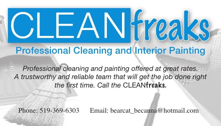 Cleanfreaks Business Card