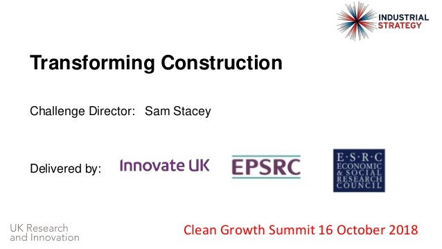 Clean Growth Summit: Transforming Construction