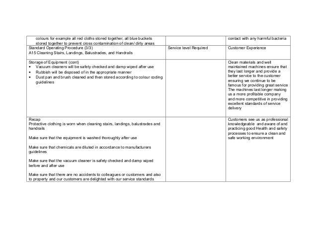 standard operating procedure template for customer service