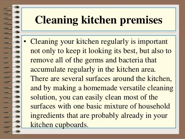 Cleaning Kitchen ...
