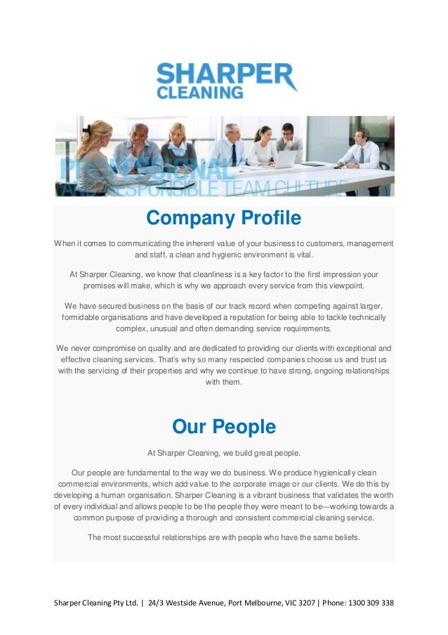 home cleaning services company profile pdf