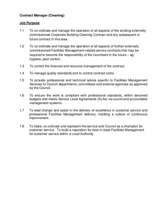 Service Level Agreement Facilities Management Images Agreement