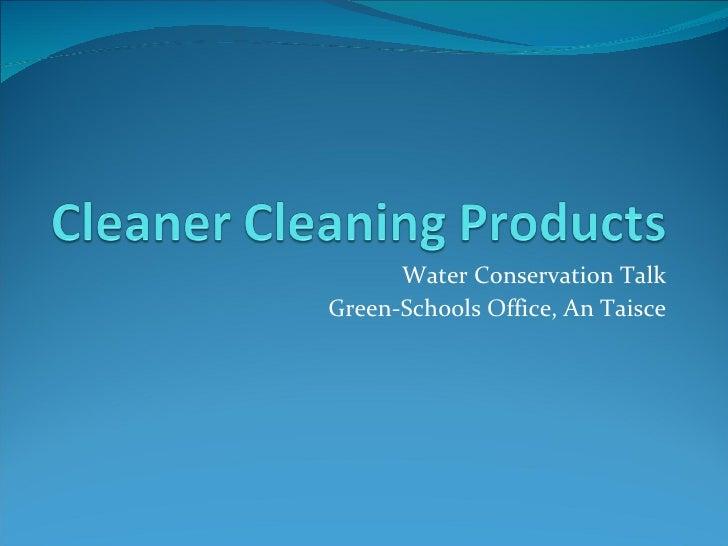 Water Conservation Talk Green-Schools Office, An Taisce