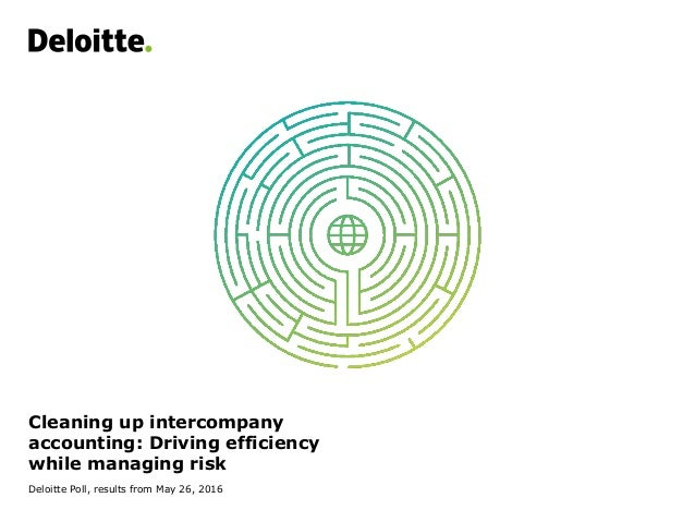 Cleaning up intercompany accounting: Driving efficiency while managing risk Deloitte Poll, results from May 26, 2016