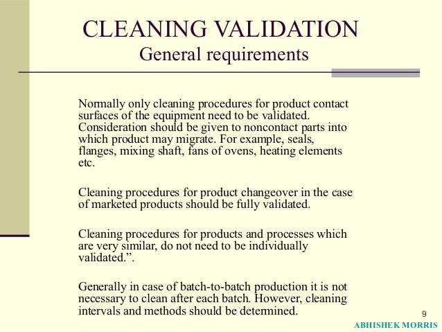 cleaning procedures Section 9–effective cleaning and sanitizing procedures recommended conditions cleaning personnel need a working understanding of the type of substances to be cleaned the basic chemistry of.