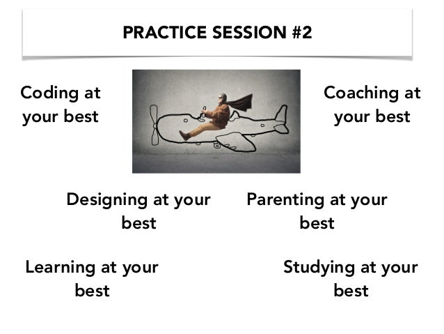 PRACTICE SESSION #2 Learning at your best Parenting at your best Coding at your best Coaching at your best Studying at you...