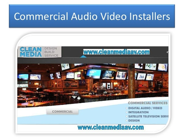 Commercial audio video installers - Comercial sound ...