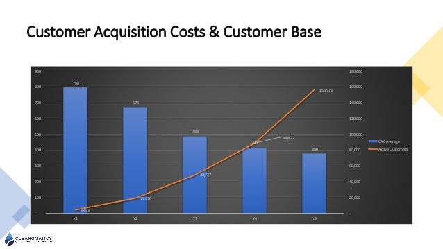 Customer Acquisition Costs & Customer Base 798 673 488 417 380 4,493 19,336 48,727 88,822 156,573 - 20,000 40,000 60,000 8...